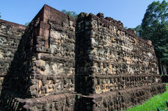 Leper King tomb at Angkor, Cambodia - Day blue sky Stock Photography