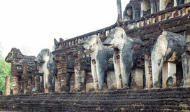 Lephant statue. Elephant statue at historical park, Sukhothai, Thailand Stock Images