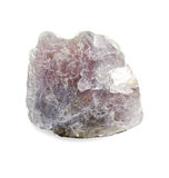 Lepidolite - violet mica. Fine sample of lithium mica for your mineralogical collection stock photo