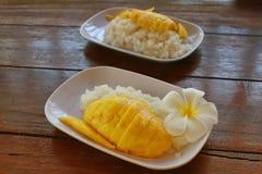 lepki ryż mango fotografia royalty free