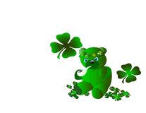 Leprachan Teddy. Cute Teddy Bear all dressed up for St Patricks Day Royalty Free Stock Photo