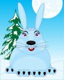 Lepre della fauna selvatica in neve Fotografia Stock Libera da Diritti