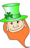 Leprechan. Leprechaun wearing a green hat Royalty Free Stock Image
