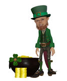 Leprechan with  a Pot of Gold Royalty Free Stock Image
