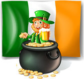 Leprechan in the pot of gold Royalty Free Stock Photo