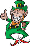 Leprechaun 1. A happy St Patrick's Day Leprechaun clicking his heals. Great for company news letters and party announcements Royalty Free Stock Images