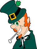 Leprechaun. Raster cartoon graphic depicting a leprechaun (St. Patrick's Day Royalty Free Stock Photos