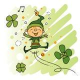 Leprechaun. Cute Leprechaun jumping kids illustration Royalty Free Stock Image