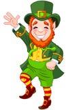 Leprechaun afortunado da dança Foto de Stock