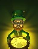 Leprechaun afortunado: Eu sou rico!! Imagens de Stock