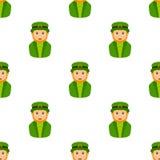 Leprechaun Avatar Icon Seamless Pattern Royalty Free Stock Image