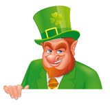 Leprechaun banner Stock Photos