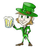 Leprechaun with beer Royalty Free Stock Image