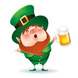 Leprechaun with beer Royalty Free Stock Photography