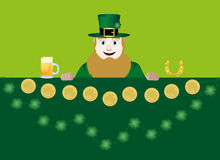 Leprechaun with beer Royalty Free Stock Images