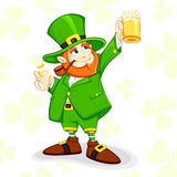 Leprechaun with Beer Mug Royalty Free Stock Photos