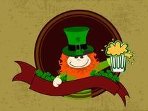 Leprechaun with beer mug Stock Image