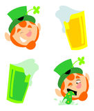 Leprechaun And Beer Stock Image