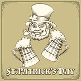 Leprechaun and Beer Royalty Free Stock Photos