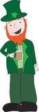 Leprechaun bevente Immagine Stock Libera da Diritti
