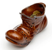 Leprechaun boot with coins Royalty Free Stock Image