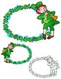 Leprechaun border Royalty Free Stock Images