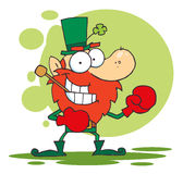 Leprechaun boxing Stock Photo