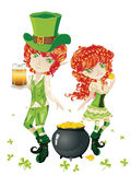 Leprechaun Boy and Girl Stock Image