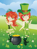 Leprechaun Boy and Girl Royalty Free Stock Photos