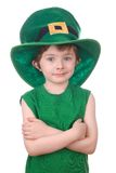 Leprechaun boy isolated on white Stock Photos