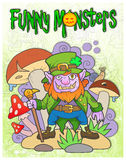 Leprechaun in the bush Mushroom vector illustration