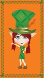 Leprechaun card Stock Images