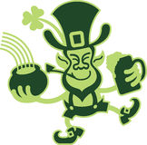 Leprechaun Celebrating St Paddys Day Stock Images
