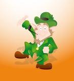 Leprechaun Celebrating St. Patrick's Day Royalty Free Stock Photo