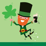 Leprechaun Celebrating St Patrick's Day Stock Photos