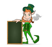 Leprechaun with chalkboard Royalty Free Stock Images