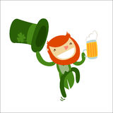 Leprechaun charachter isolated Royalty Free Stock Photos