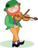 Leprechaun che gioca un violino Fotografia Stock