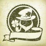 Leprechaun circle logo grange Stock Photos