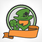 Leprechaun circle logo Stock Photography