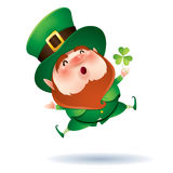 Leprechaun and clover Royalty Free Stock Photography