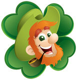 Leprechaun And Clover.jpg Royalty Free Stock Photo