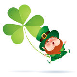 Leprechaun and clover Royalty Free Stock Images