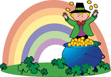 Leprechaun and Coins Royalty Free Stock Images