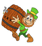 Leprechaun com cerveja Fotografia de Stock