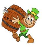 Leprechaun con birra Fotografia Stock