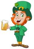 Leprechaun con birra Fotografie Stock