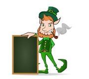Leprechaun con la pizarra Ilustración del Vector