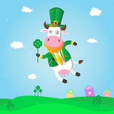 Leprechaun-cow for st. Patrick.s day. Stock Photography