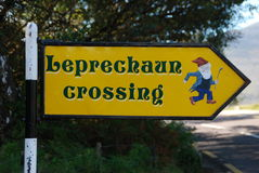 Leprechaun crossing Stock Photography